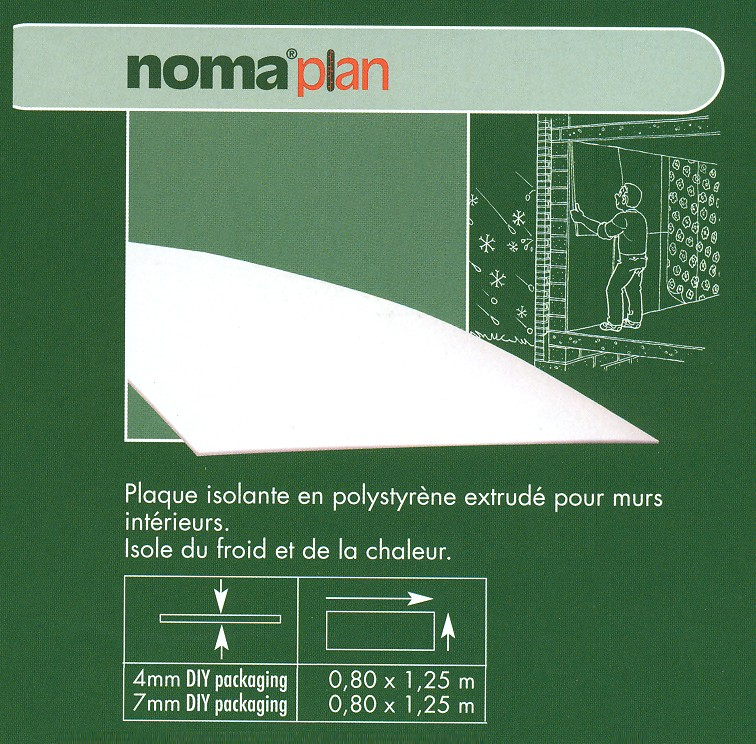 Noma-plaque isol.polys.ext.7mm 0,8x1,25m
