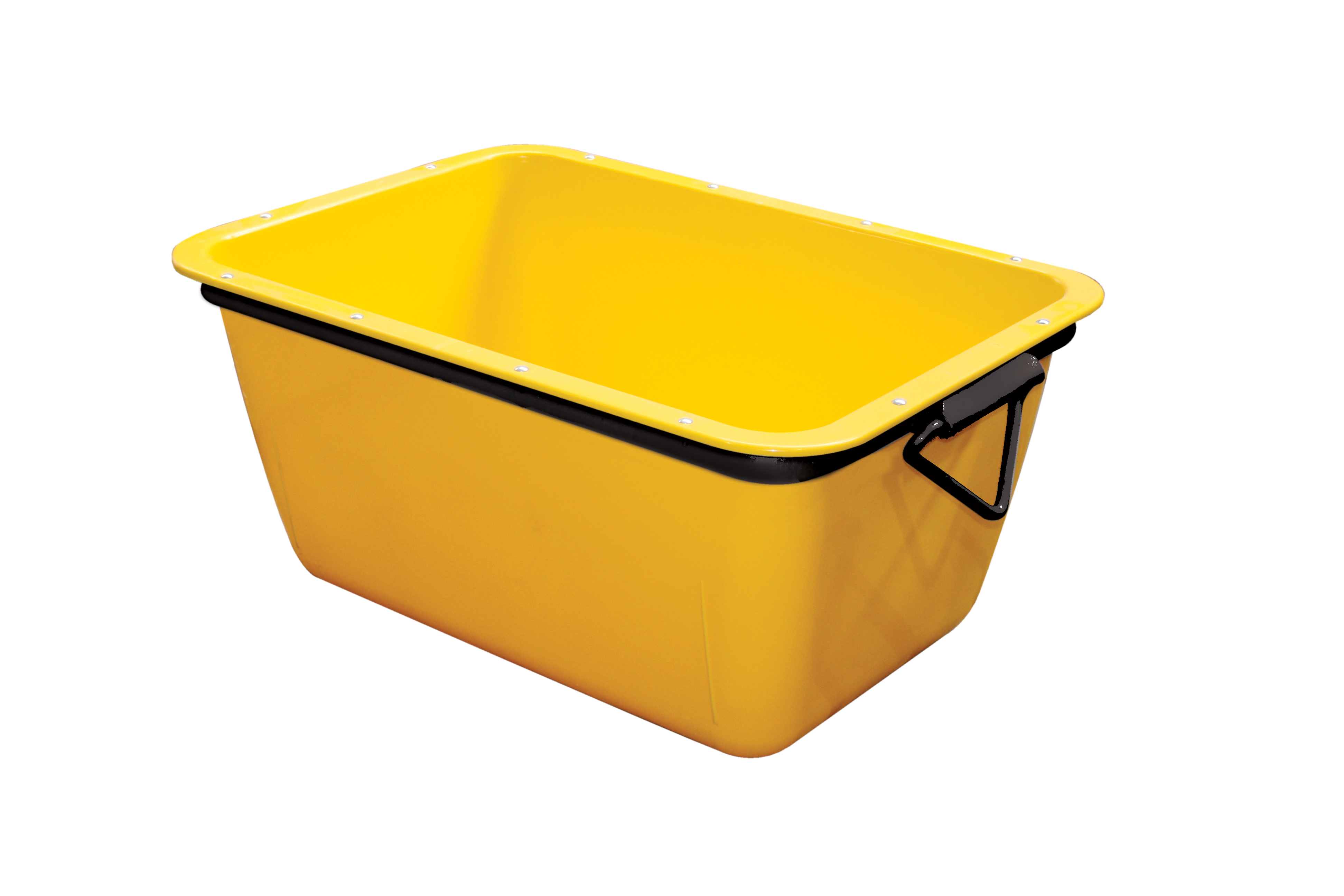 Auge à mortier rectangle 200L jaune