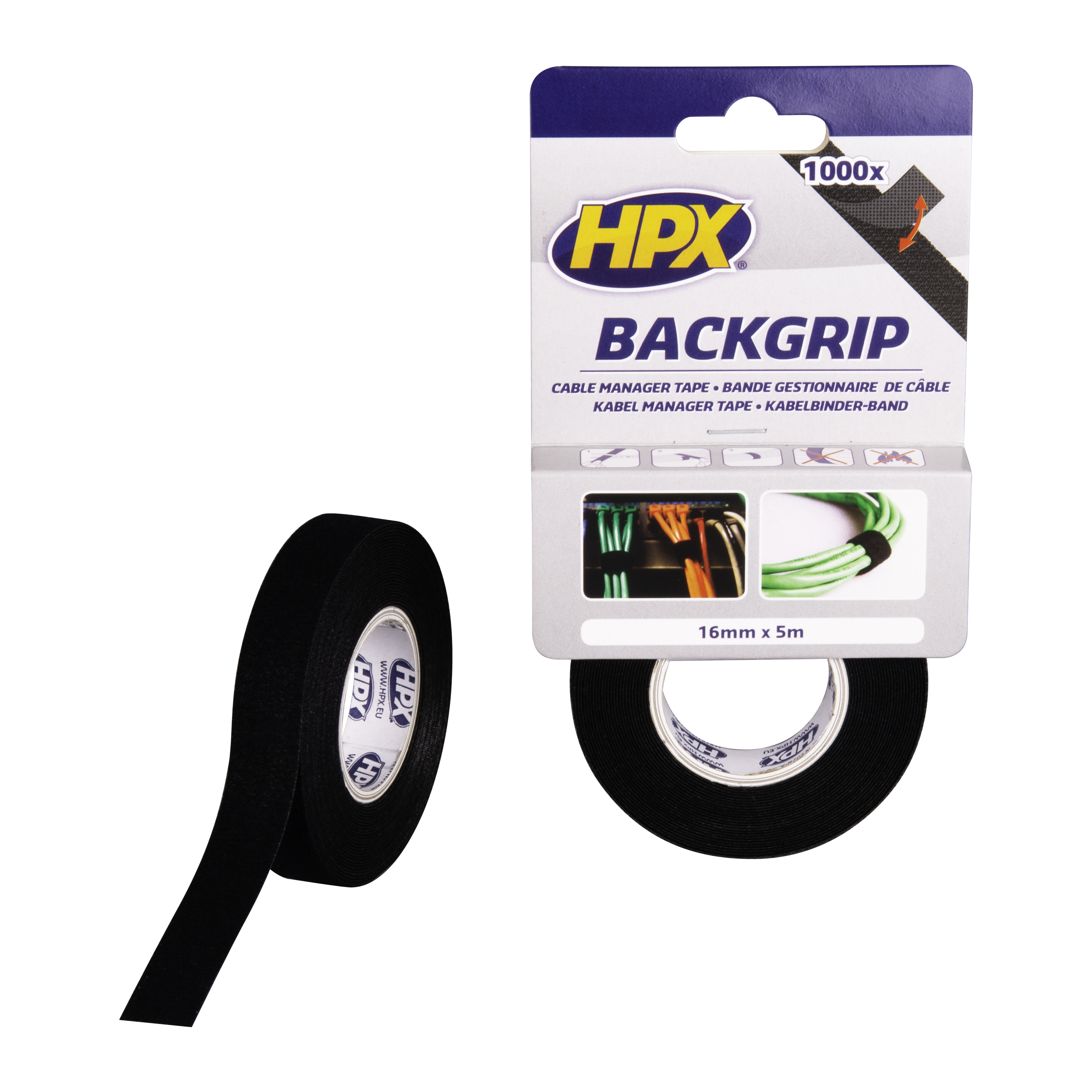 Back grip - noir 16mm x 5m