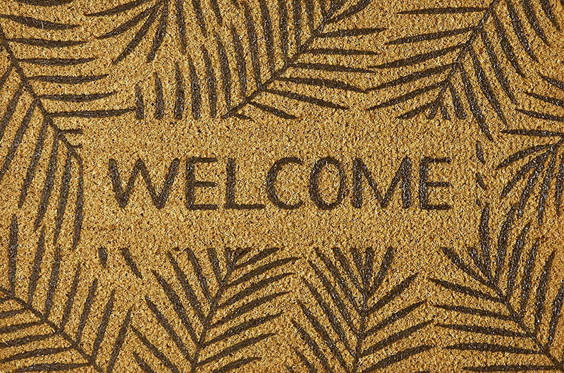 Paillasson Coco 40x60cm  Leaves welcome