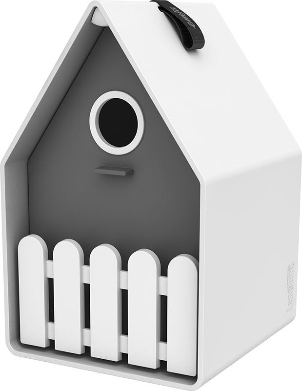LANDHAUS Bird house - granite/blanc