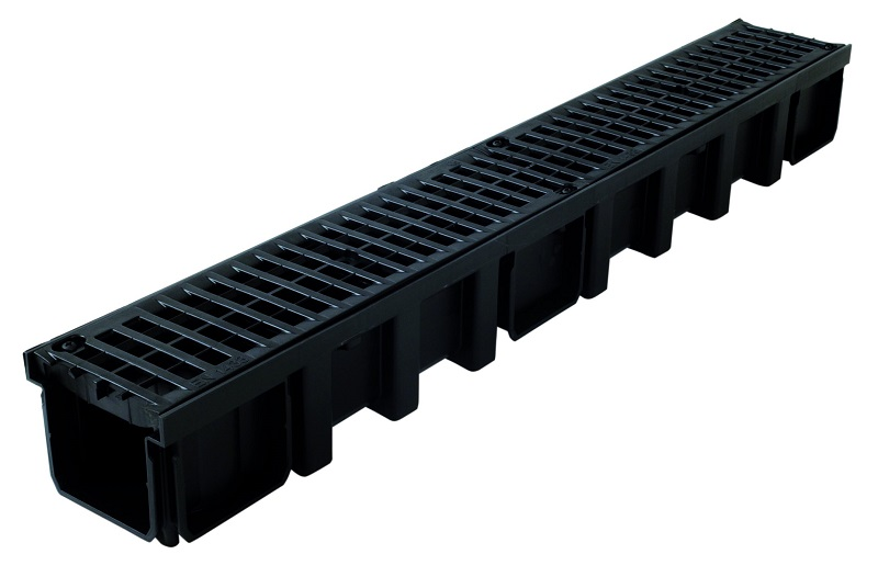 Caniveau PP +grille polyamide B125 1m
