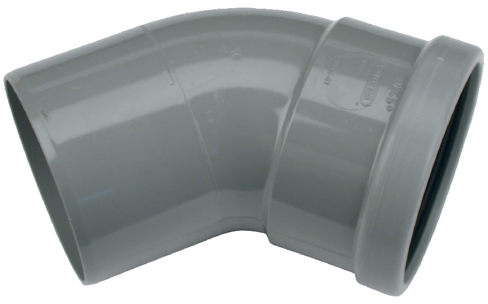 Coude gris 110mm 45° MF