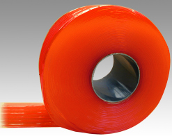 Lamelle PVC souple orange op 300x3mm 50m
