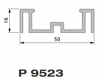 9523 lambourde alu 50x16mm 6m rubrique planchette profil. Black Bedroom Furniture Sets. Home Design Ideas