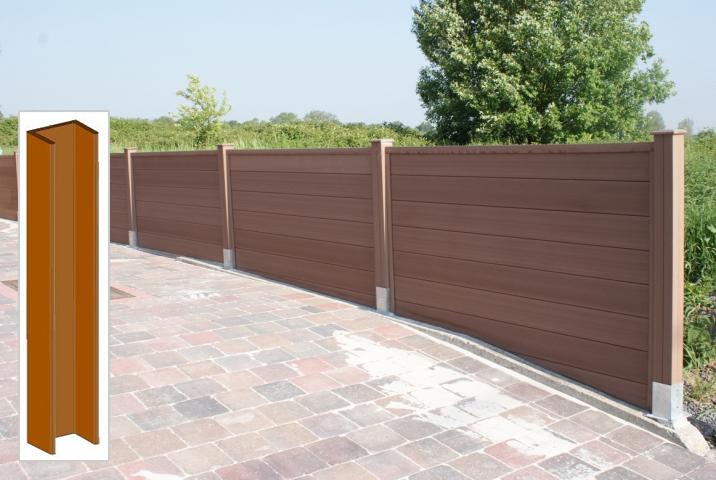 Profil u cran de jardin brun 42x182 rubrique planchette - Ecran de jardin en bois ...