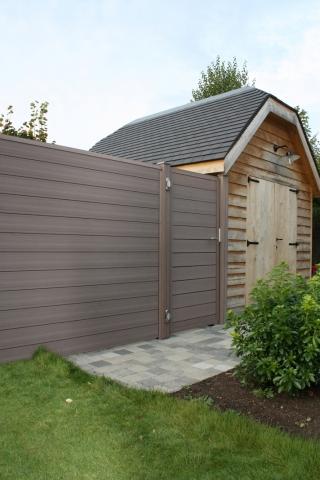 Porte cran de jardin brun 1 8m rubrique planchette - Ecran de jardin en bois ...