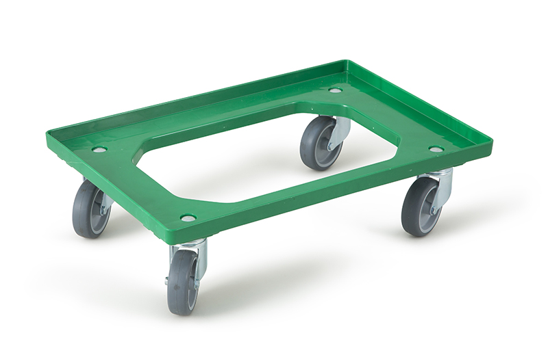 Chariot Dolly 4 roues pivotantes vert