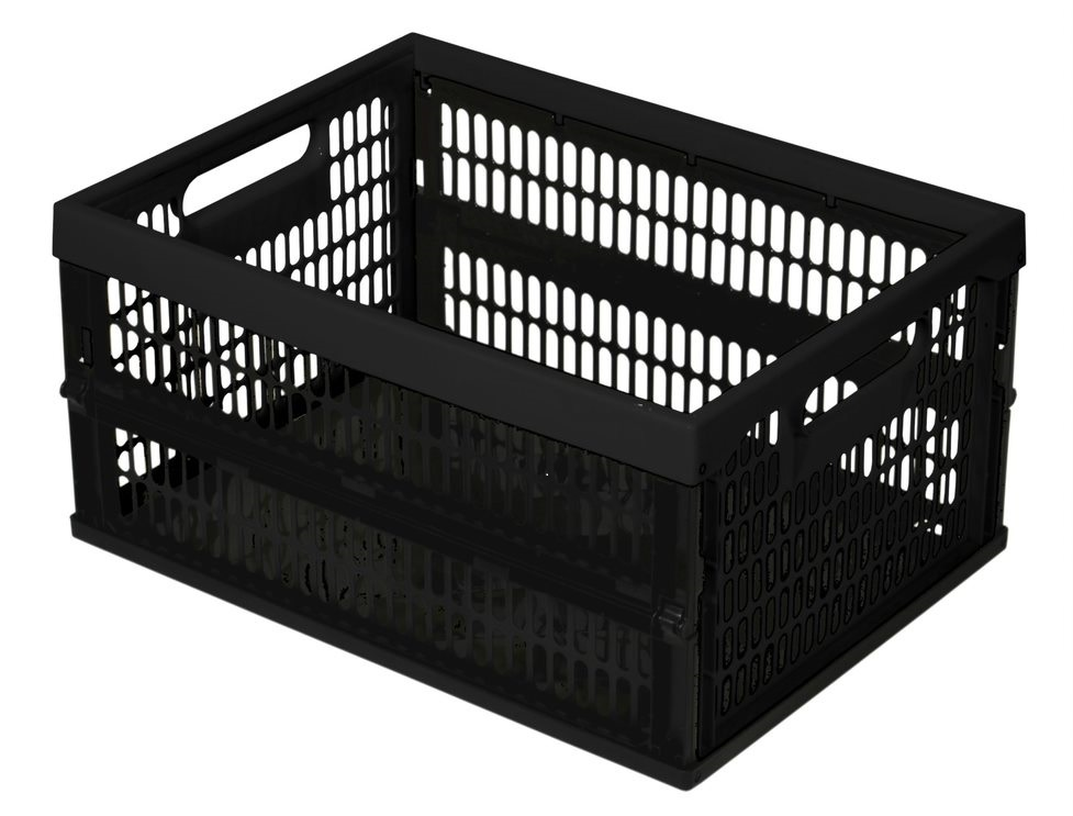Box PLIABLE 34L noir/noir 470x340x240mm