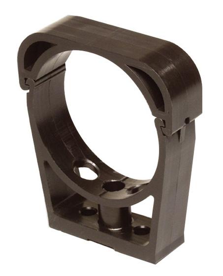 collier de fixation pehd noir 75mm rubrique pression. Black Bedroom Furniture Sets. Home Design Ideas