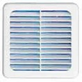 Grille carree 100x100mm + moust.clipsab.