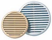 Grille ronde a clips/mous.80/125mm blanc