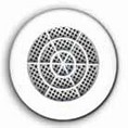 Grille ronde blanche moust. 80/90mm