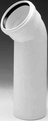Coude long PP Silenc.blanc 110mm 45° MF