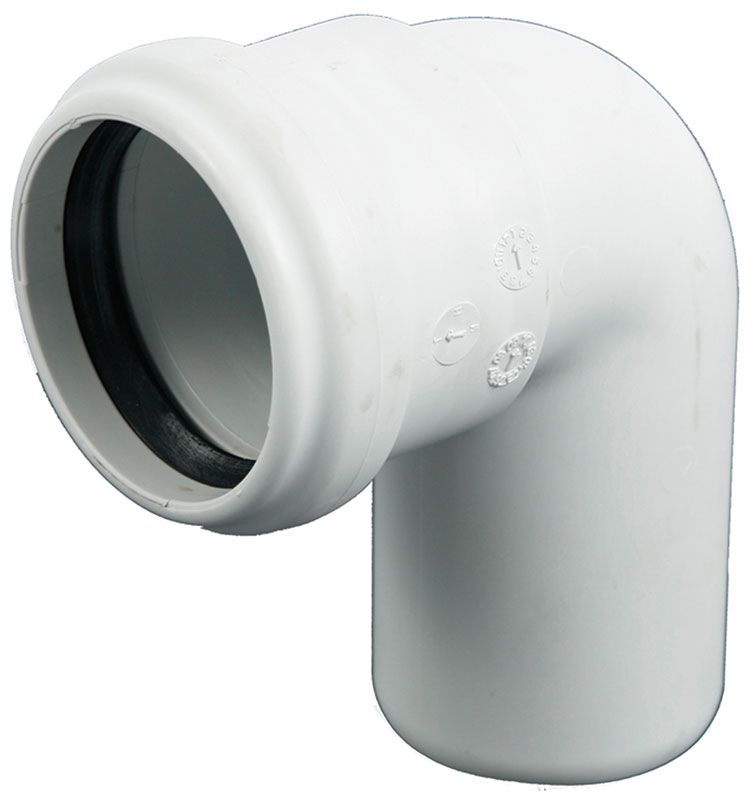 Coude PP Silenc.blanc 110mm 87° MF