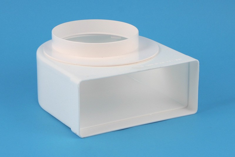 Transition PVC blanc 220x90mm-90° Ø150mm