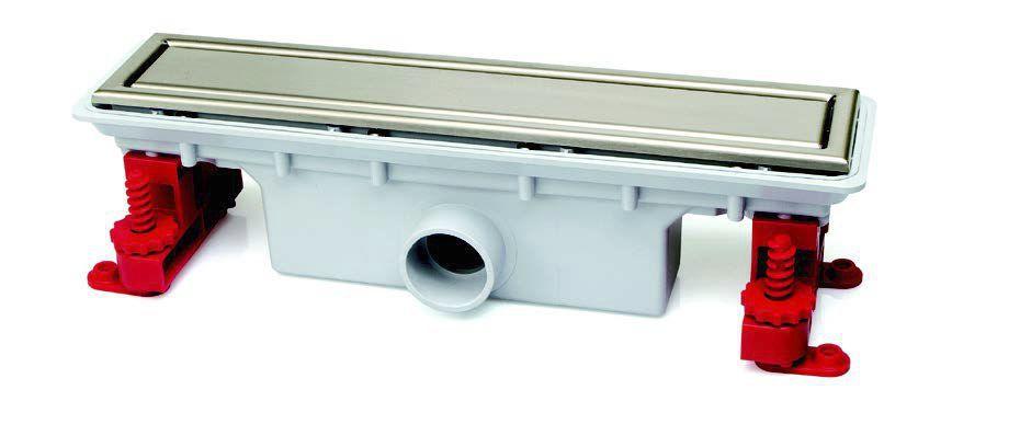 Docia caniveau grille r versible 900mm rubrique sanitaire for Caniveau a pente integree