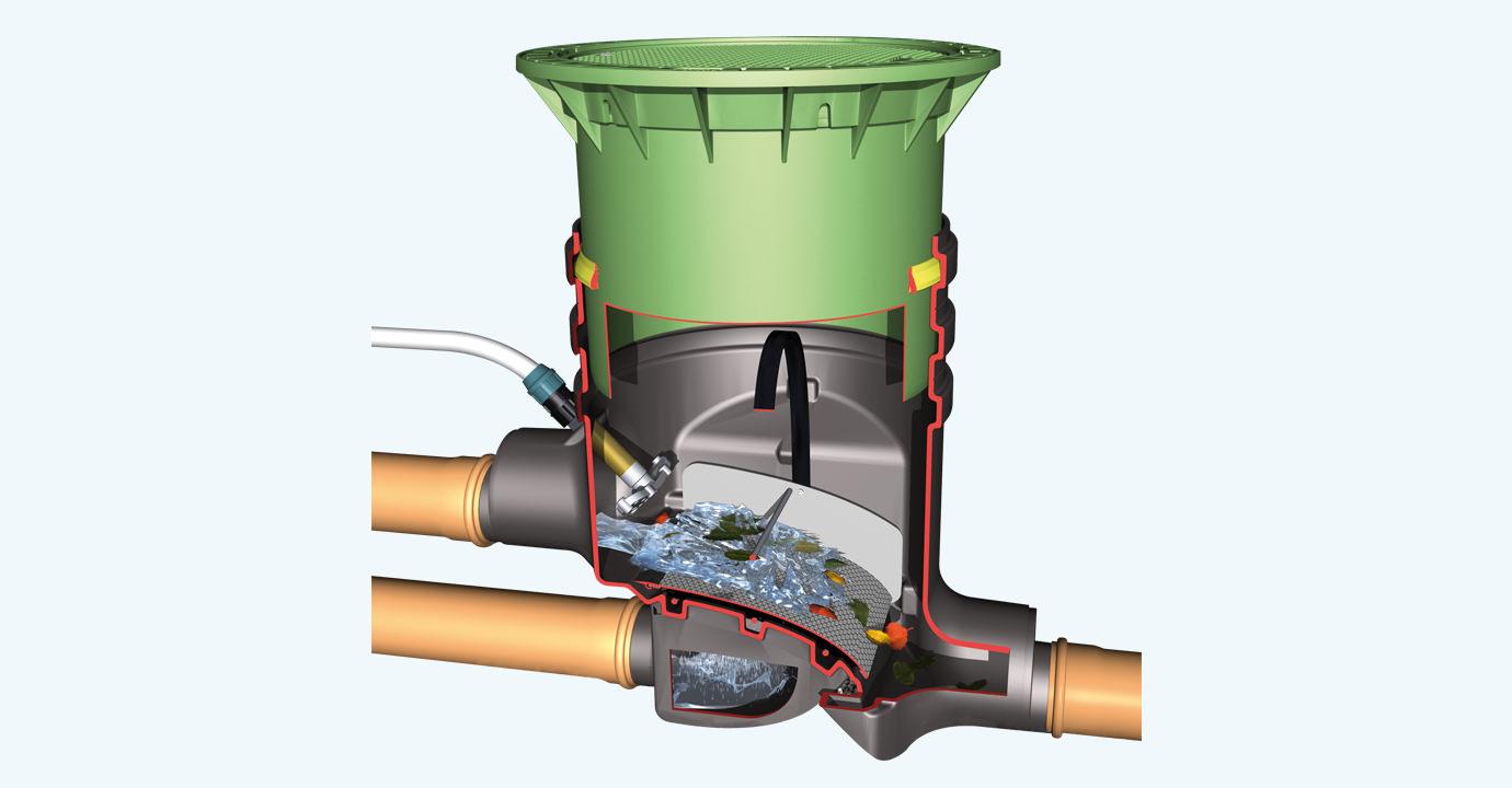 Filtre eau de pluie citerne eau pluviale fosse citerne - Filtre eau de pluie avant citerne ...