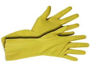 Gants latex ménage jaune Medium