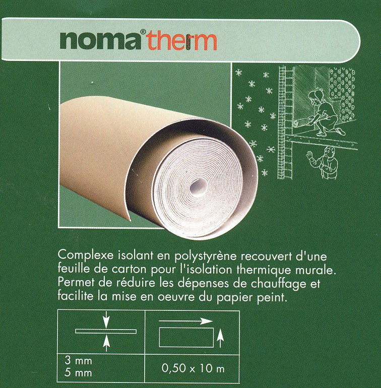 Noma-therm isol.therm.mural 3mm 0,5x10m