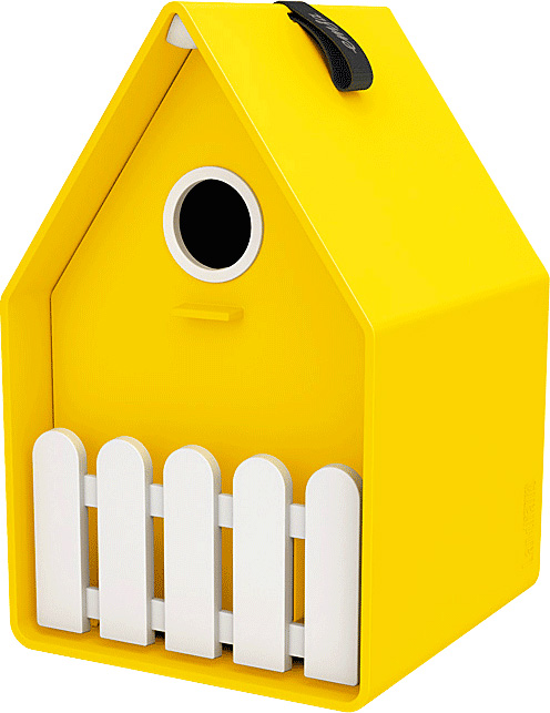 LANDHAUS Bird house - jaune