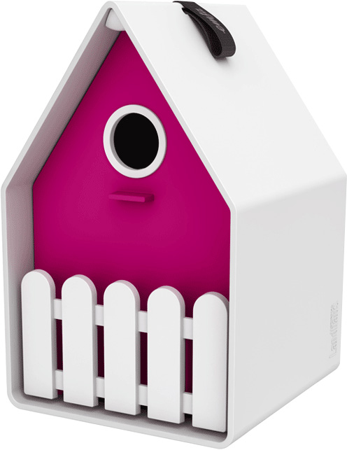 LANDHAUS Bird house - rose/blanc