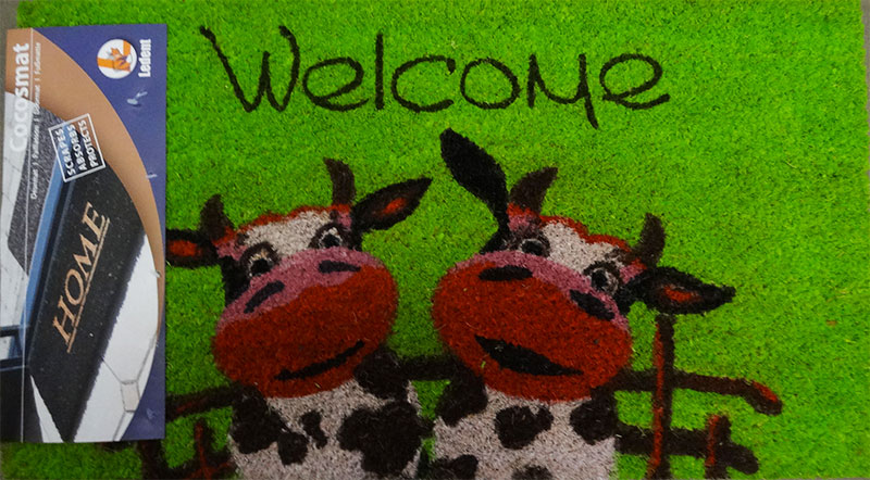 Paillasson Coco Welcome vache 40x70cm
