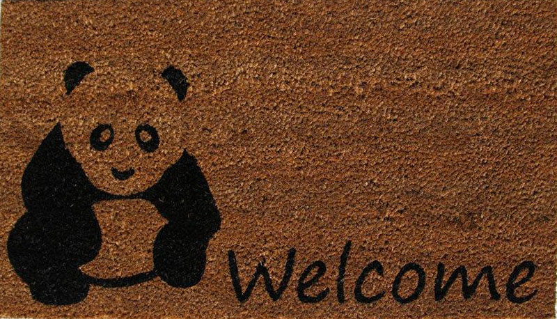 Paillasson Coco Welcome Panda 40x70cm
