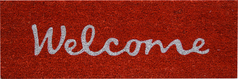Paillasson Coco Welcome rouge 25x75cm