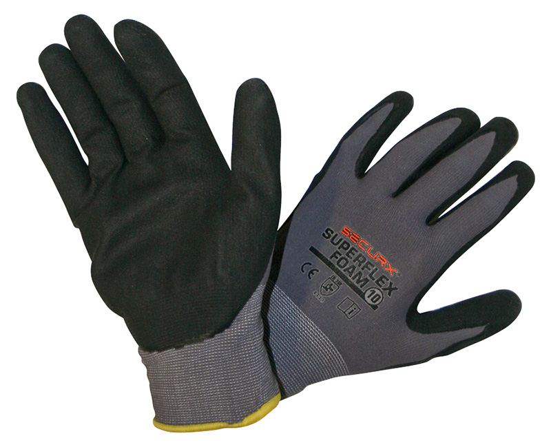 gants de s curit superflex foam 10 rubrique divers. Black Bedroom Furniture Sets. Home Design Ideas