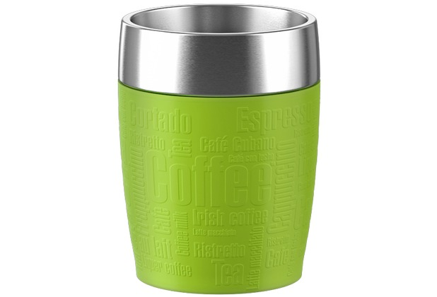 TRAVEL CUP isother 0,20L inox/lime