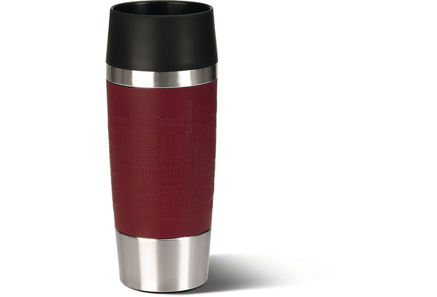 TRAVEL MUG gobelet 0,36L inox/rouge