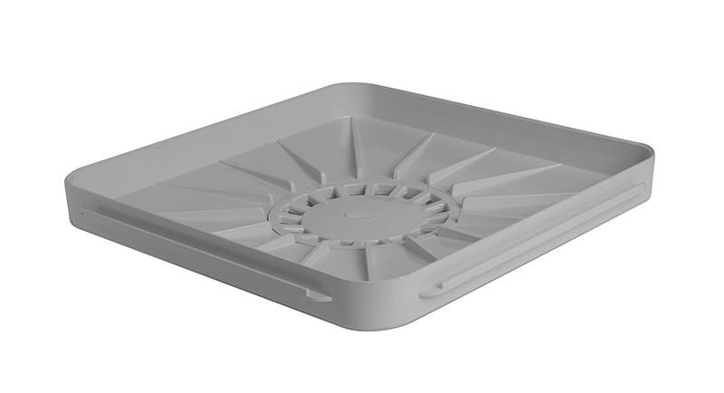 Receveur siphonne 400x400 gris clair rubrique egout sous for Syphon de sol exterieur