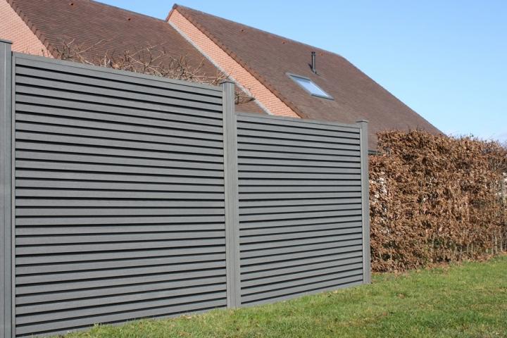 Profil U écran de jardin gris 40x2,02 Rubrique(Planchette ...
