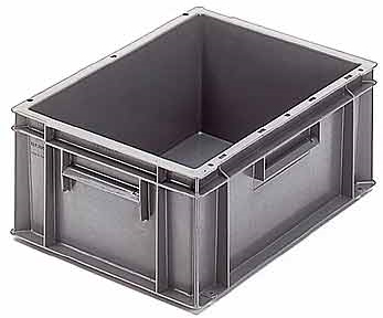 bac 15l 400x300x175 pp gris rubrique manutention. Black Bedroom Furniture Sets. Home Design Ideas