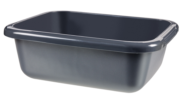 Cuvette rectangulaire 9L  anthracite