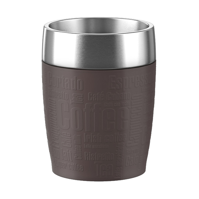 TRAVEL CUP isother 0,20L inox/choco