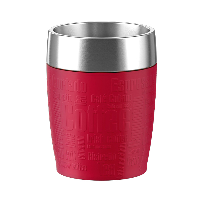 TRAVEL CUP isother 0,20L inox/rouge