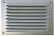 Grille rect. alu an./moustiq. 300x500mm
