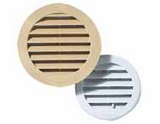Grille ronde enc. blanche 100mm a/m