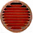 Grille ronde pers. Cuivre D80