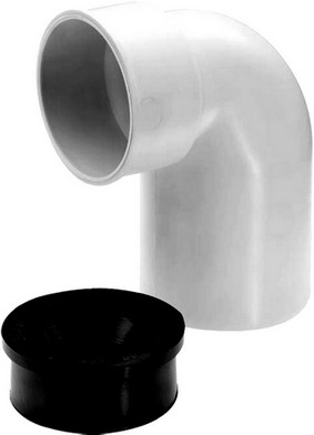 Coude siphon PP Silenc.blanc 56mm 87° MF