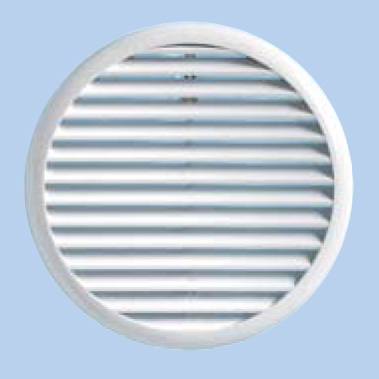 Grille ronde univ.ressorts 125/160 blanc