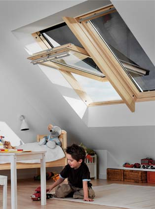 velux rotation ggl3070 bois 55x78cm rubrique toiture bardage. Black Bedroom Furniture Sets. Home Design Ideas