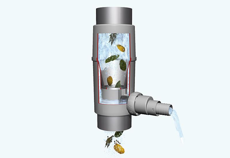 Collecteur filtrant regendieb pro rubrique fosse citerne - Recuperation eau de pluie gouttiere ...